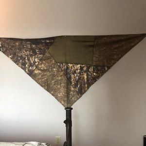 Chico's Leather Shawl (Footboard post is in photo)